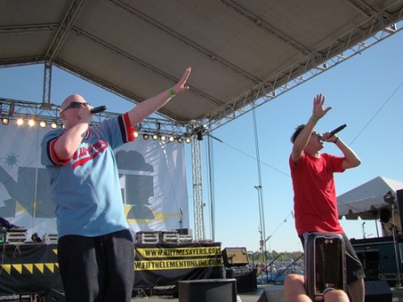 "Brother Ali & Slug performing ""The Believers"", Courtesy of Erik Burg"