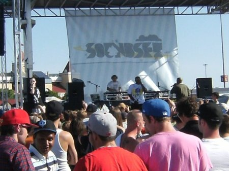 Kno, Deacon & SOS rocking the crowd, Courtesy of Kyle Konczal
